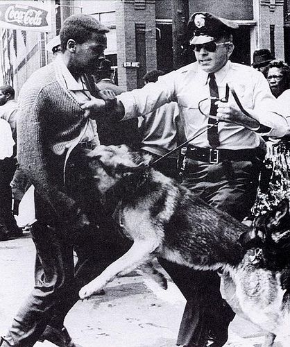 My mother Mrs W Brunner and myself Jerry Brunner had just gotten in a cab after exiting a Greyhound Bus moments before these dreadful acts! Birmingham Dog Attacks by Black History Album, via Flickr