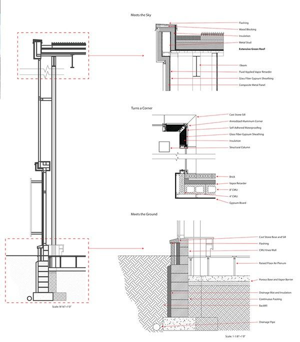 Curtain Wall Section Free Online Home Decor Techhungry Us Curtain Wall Wall Construction Drawings