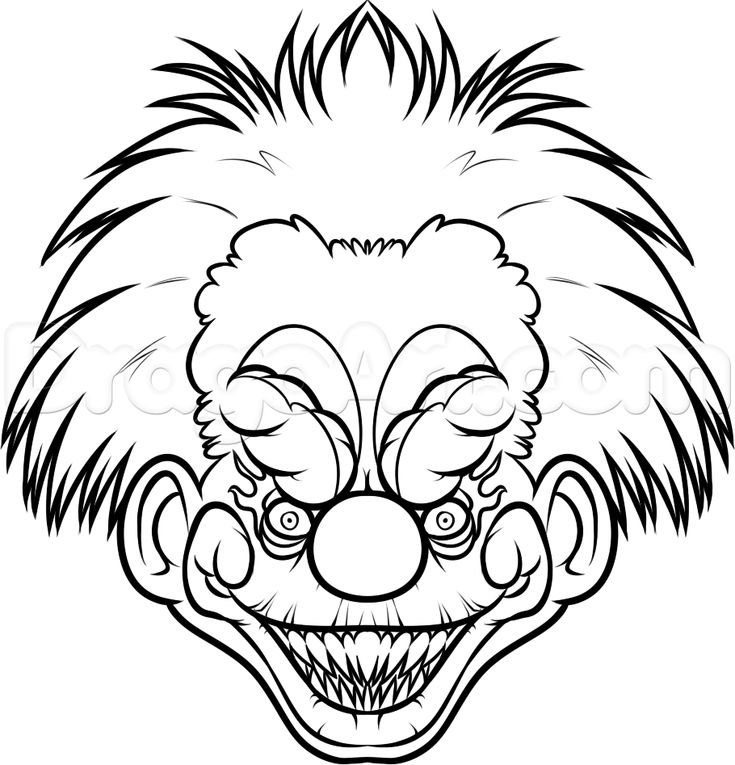 how to draw a killer klown step 10   SVG Files   Drawings ...