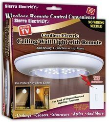 sierra tools jb5571 battery operated ceiling wall light with remote by. Black Bedroom Furniture Sets. Home Design Ideas