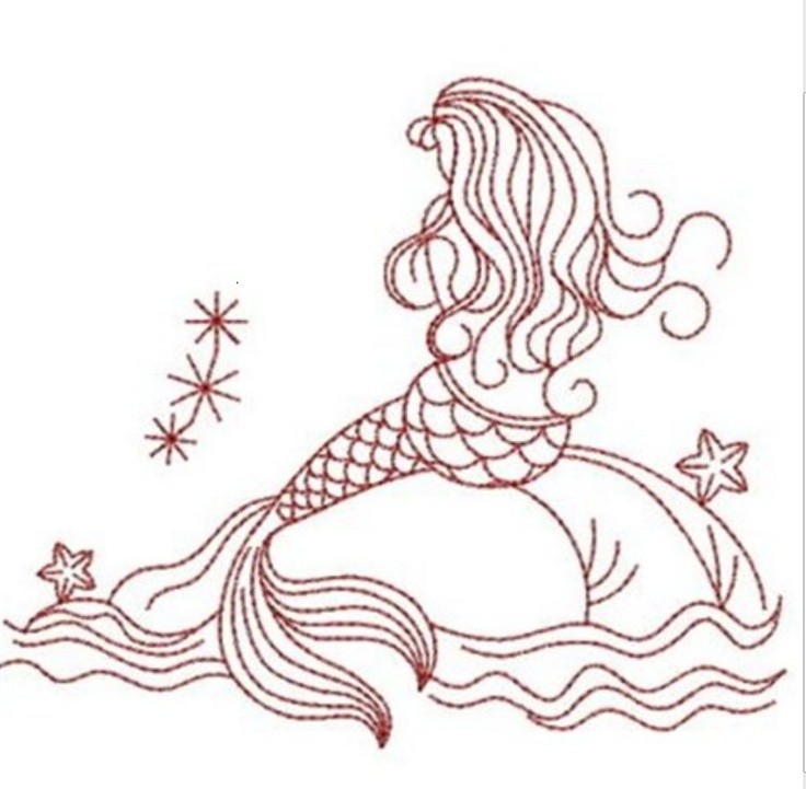 mermaid embroidery