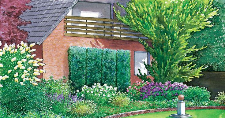 Aus einer brach liegenden Fläche vor dem Haus wird ein schön gestalteter Vorgarten. Wir präsentieren zwei Gestaltungsideen mit Pflanzplänen zum Herunterladen und Ausdrucken.