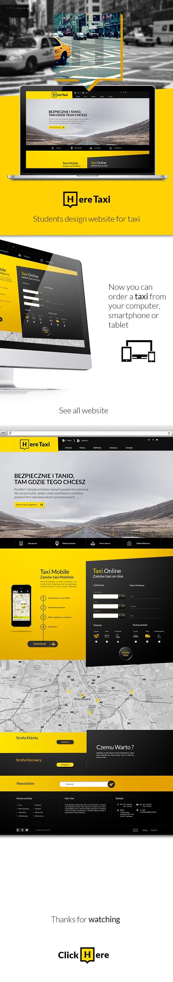 HereTaxi website by Piotr Dziechciarski, via Behance