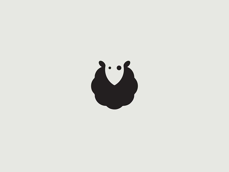 not for the actual sheep, but for the use of negative space....... Blacksheep by Augustinas Paukste