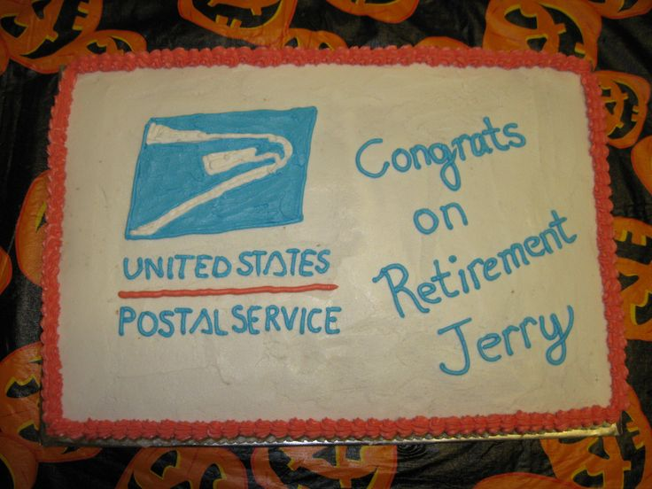 A cake order I had for a guy retiring from the postal