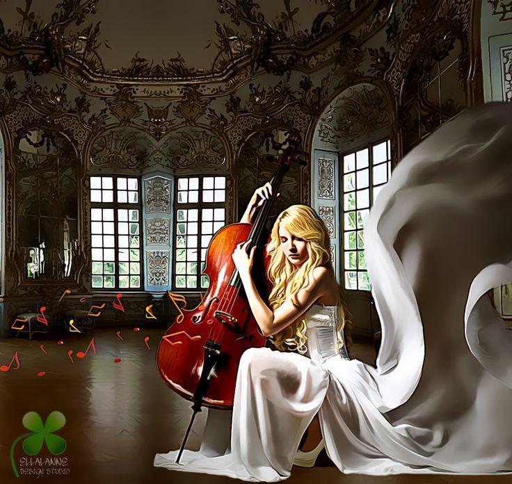 Her sad melody ... #ellalanne #ellalannedesignstudio #digitalart #digitalpainting #artwork #artist #designer #creative #photomanipulation #sad #sadness #melody #notes
