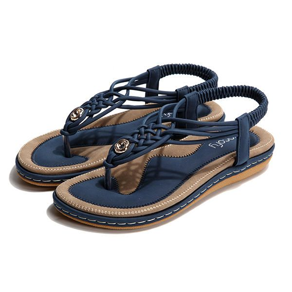 2319e088f SOCOFY Large Size Women Shoe Knitted Casual Soft Sole Outdoor Beach Sandals  - Banggood Mobile