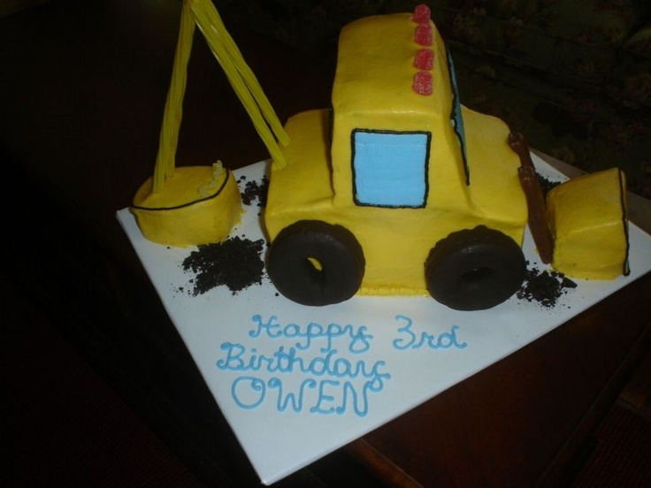 1000 images about digger cakes on pinterest for Digger cake template