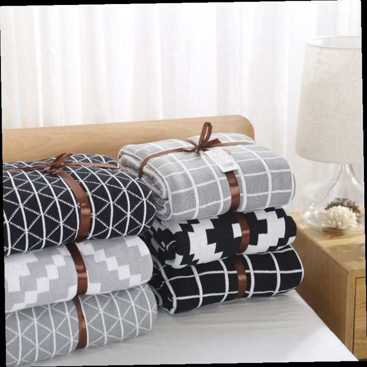 42.65$  Watch now - http://alisbl.worldwells.pw/go.php?t=32692041715 - 2016 Plaid Limited Swaddle Baby Blankets Newborn 1pc High End Quality 100% Knitted Blanket Adult Kid Sofa Cobertor 120*180cm