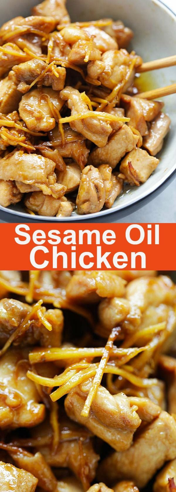 Sesame Oil Chicken – the most aromatic and delicious braised chicken ever, with loads of sesame oil and ginger. A homey dinner in 20 mins | rasamalaysia.com