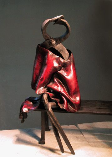 CONTEMPORARY   SCULPTURE  from ITALY  PONGOLINI GIUSEPPE
