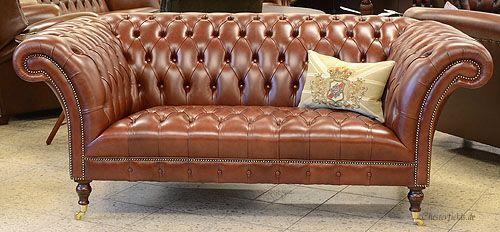 Victorian Chesterfield im wunderbaren Heritage Mahogany Leder