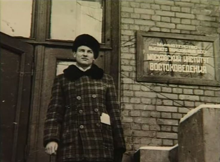 A young Tarkovsky at the Moscow Institute of Oriental Studies, where he studied Arabic from 1951 to 1952.