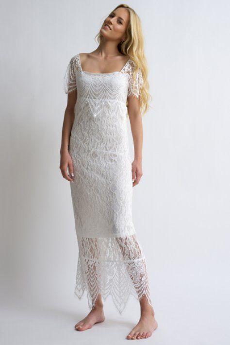 romantic dress - bloeur.gr boho dress lace white wedding gamos caftan summer 2017 beach style bloeur fashion
