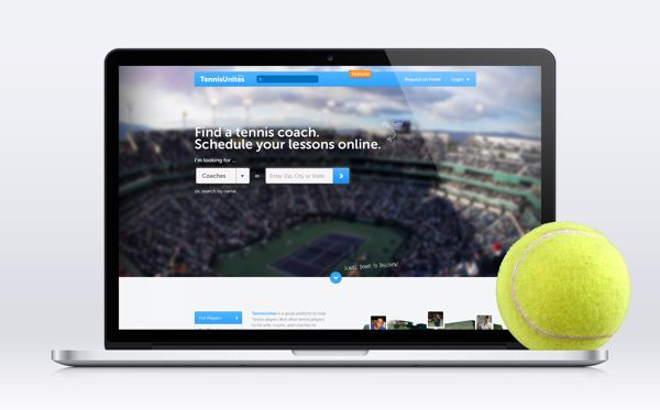 TennisUnites.com by Roberto Nickson, Look how well form fields work on the background photo. Love that top bar also. GJ. #UI #UX