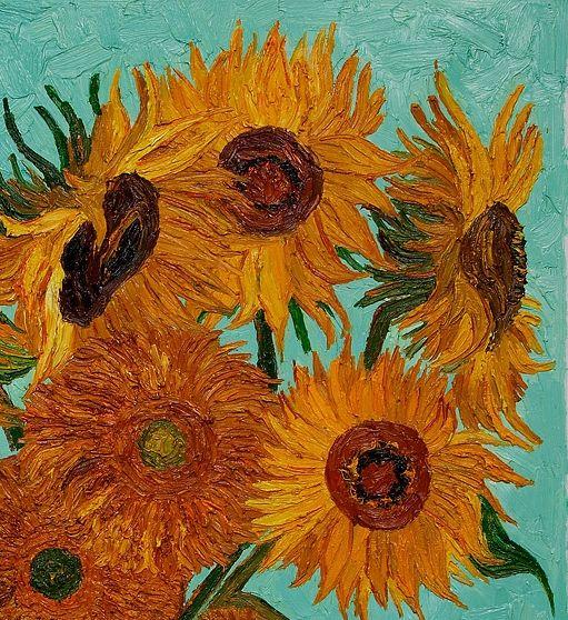 Vincent Van Gogh, Sunflowers, detail                                                                                                                                                                                 More