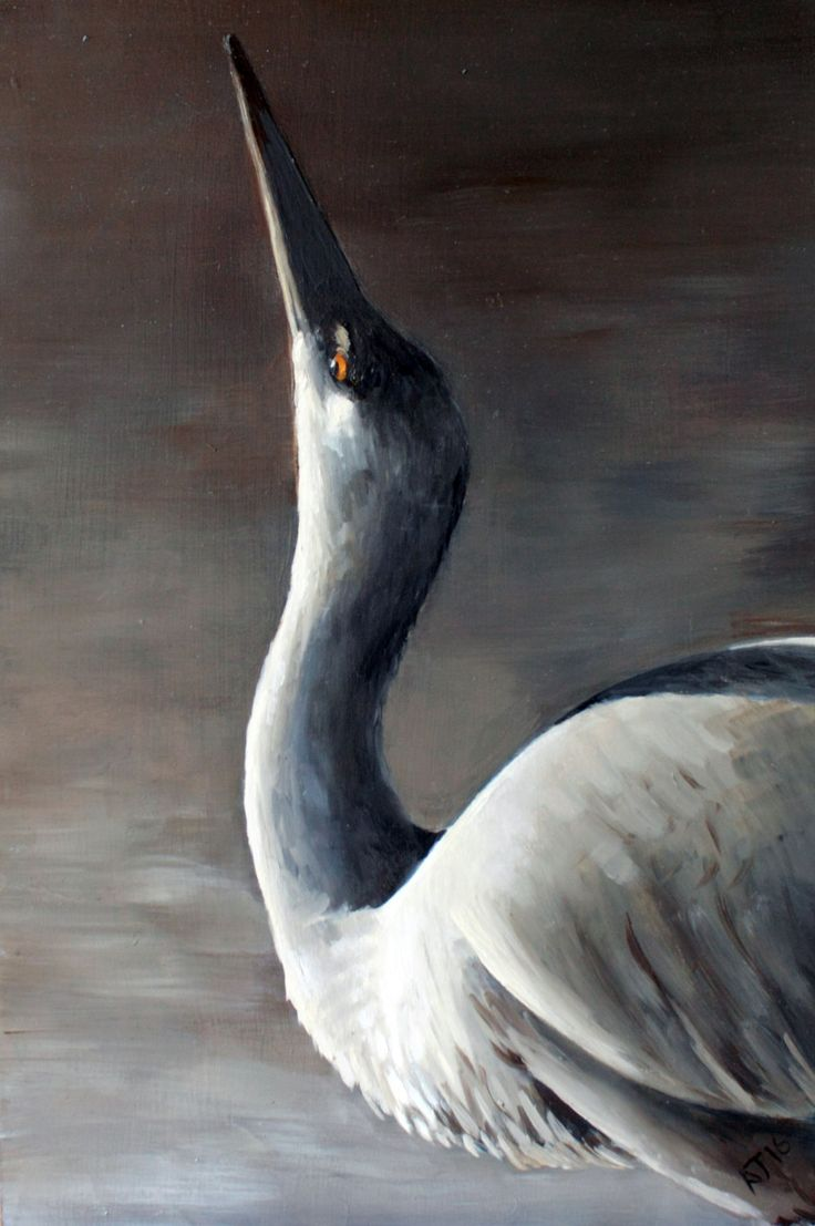 Stretching into the Sun, Heron Painting, Bird artwork by AlexJaborePaintings on Etsy