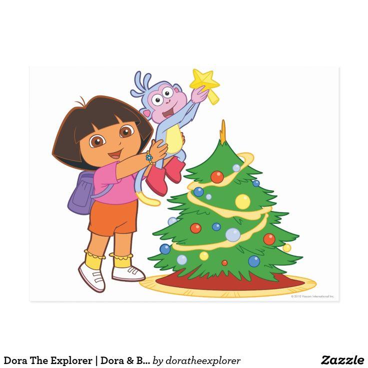 Dora The Explorer   Dora & Boots Decorate a Tree. Regalos, Gifts. #tarjeta #postcard