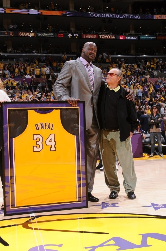 Shaq and Jack - LA Lakers One of my dreams as a kid, to see SHAQ's number retired. along with at least 1 Championship!
