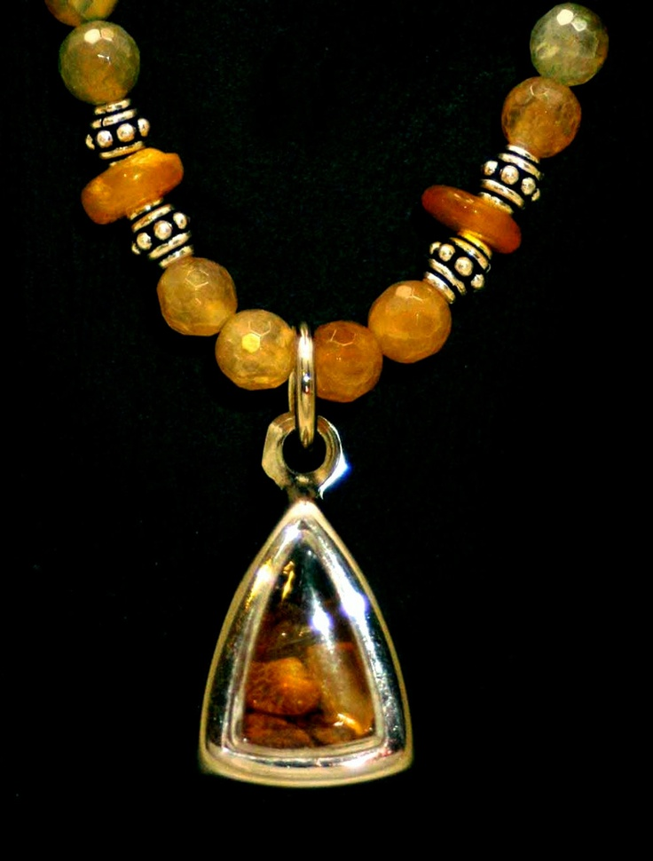Healing Amber  - Gold and Green.