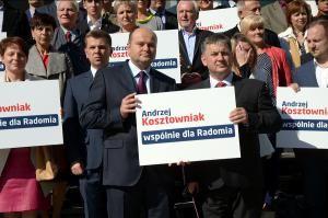 Prezydent Kosztowniak idzie do wyborów z nowym hasłem