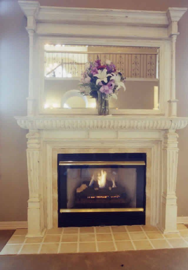 Country french fireplace with tile surround lacenter wa by for French country fireplace