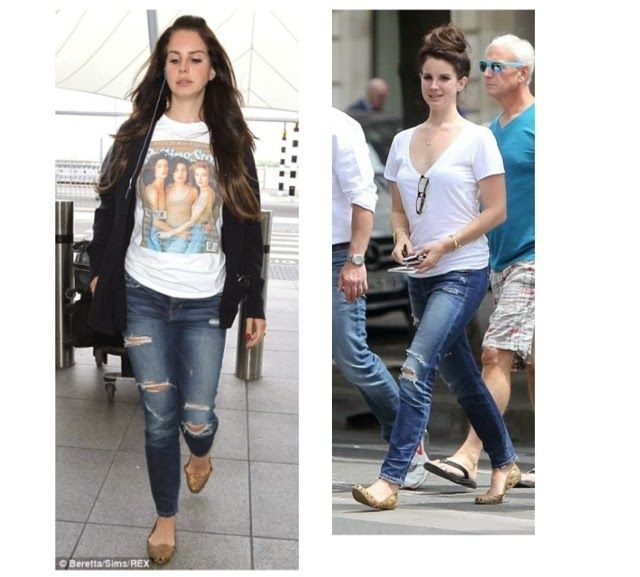 LANA DEL REY wears MELISSA x JASON WU Jean shoes for the 2nd day in a