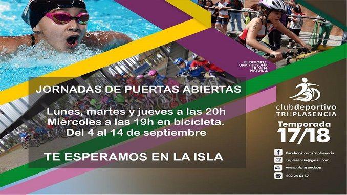 El Club Deportivo TriPlasencia, dedicado, fundamentalmente, a la promoción del triatlón entre los niños y niñas, ha organizado dos semanas de jornadas de puertas abiertas para que todos los interesados puedan probar en el multideporte.