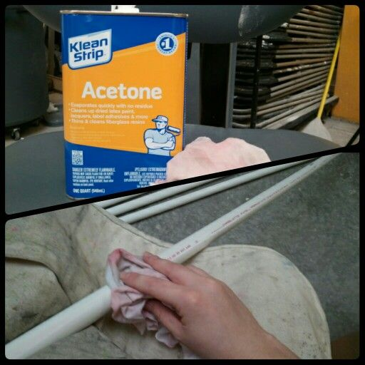 Pro Tip: Use liberal amounts of Acetone and a clean rag to strip printing off of PVC pipe for projects.