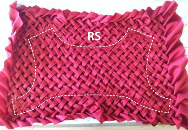 Stitched smocked piece - č.2 (líc)