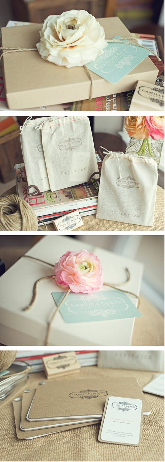 twine and flowers from the garden, who wouldn't want this pretty package?