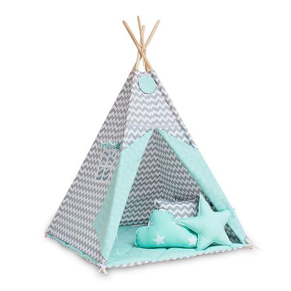 Zelt Tipi ist eine tolle Baby Geschenkidee. Das bunte Tipi-Zelt ist sicher, Spaß zu machen und als Teil des Kinderzimmerinnenraums.