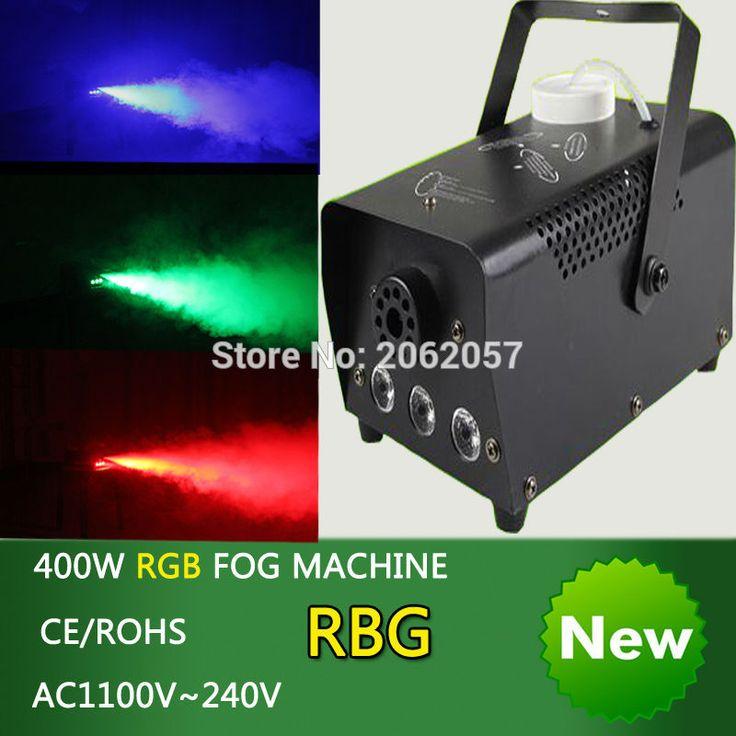 미니 400 와트 RGB 무선 원격 제어 안개 기계 펌프 dj 디스코 연기 기계 파티 웨딩 크리스마스 무대 fogger 기계