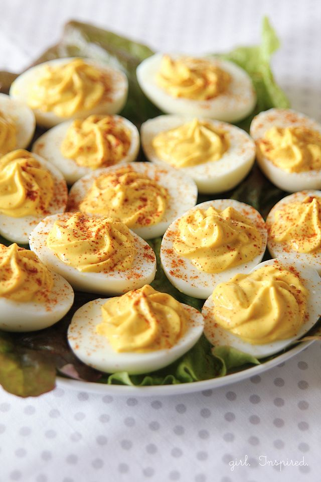Skinny Deviled Eggs - this recipe eliminates the fattening mayo for delicious, guilt-free deviled eggs