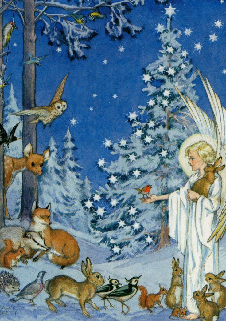 Woodland Creatures Gather Around an Angel, by Molly Brett | Flickr - Photo Sharing!