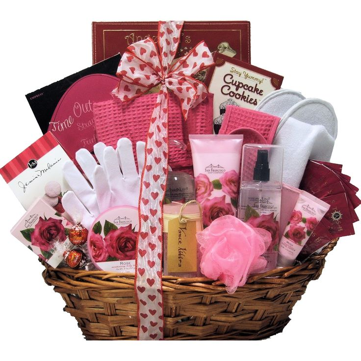 Gift Items For Ladies Part - 18: Spa Birthday Gift Basket For Women