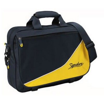 Signature Flap Custom Satchel Min 25 - Bags - Satchels - EL-B357 - Best Value Promotional items including Promotional Merchandise, Printed T shirts, Promotional Mugs, Promotional Clothing and Corporate Gifts from PROMOSXCHAGE - Melbourne, Sydney, Brisbane - Call 1800 PROMOS (776 667)