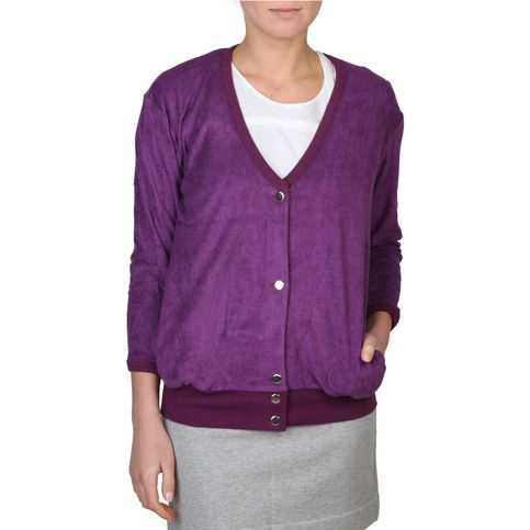 Women's+violet+cardigan 50%+CO+50%+MD wash+at+30°C SIZE:+42+	+	 44+	+	 46+		 48+
