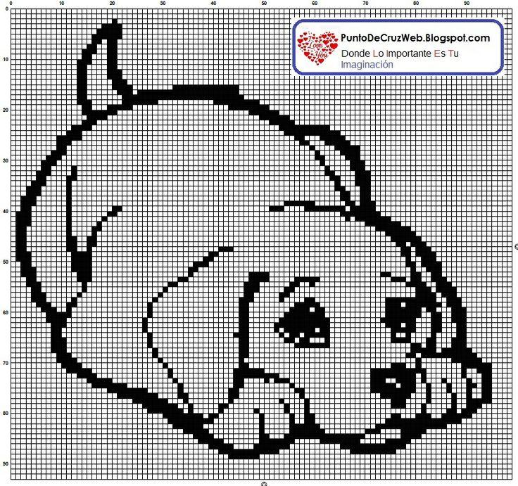 cachorro labrador en punto de cruz