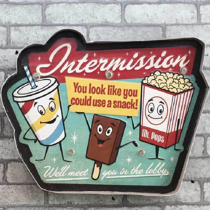 Retro Cinema Wall Sign