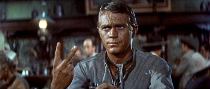 "Steve McQueen in ""The Magnificent Seven"" (John Sturges, 1960)"