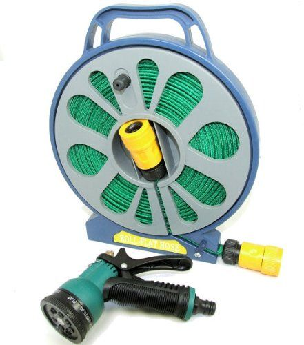 50ft Flat Hose With Spray Nozzle ** You can find more details by visiting the image link.