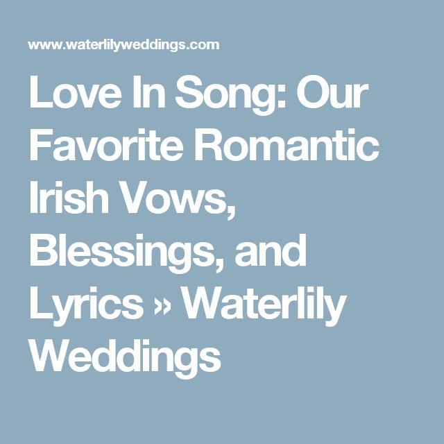 17 Best Ideas About Irish Wedding Blessing On Pinterest