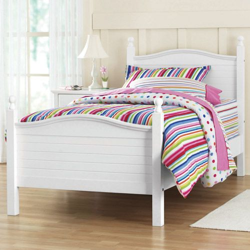 Best Kylie Twin Poster Bed White Walmart Com 150 200 400 x 300