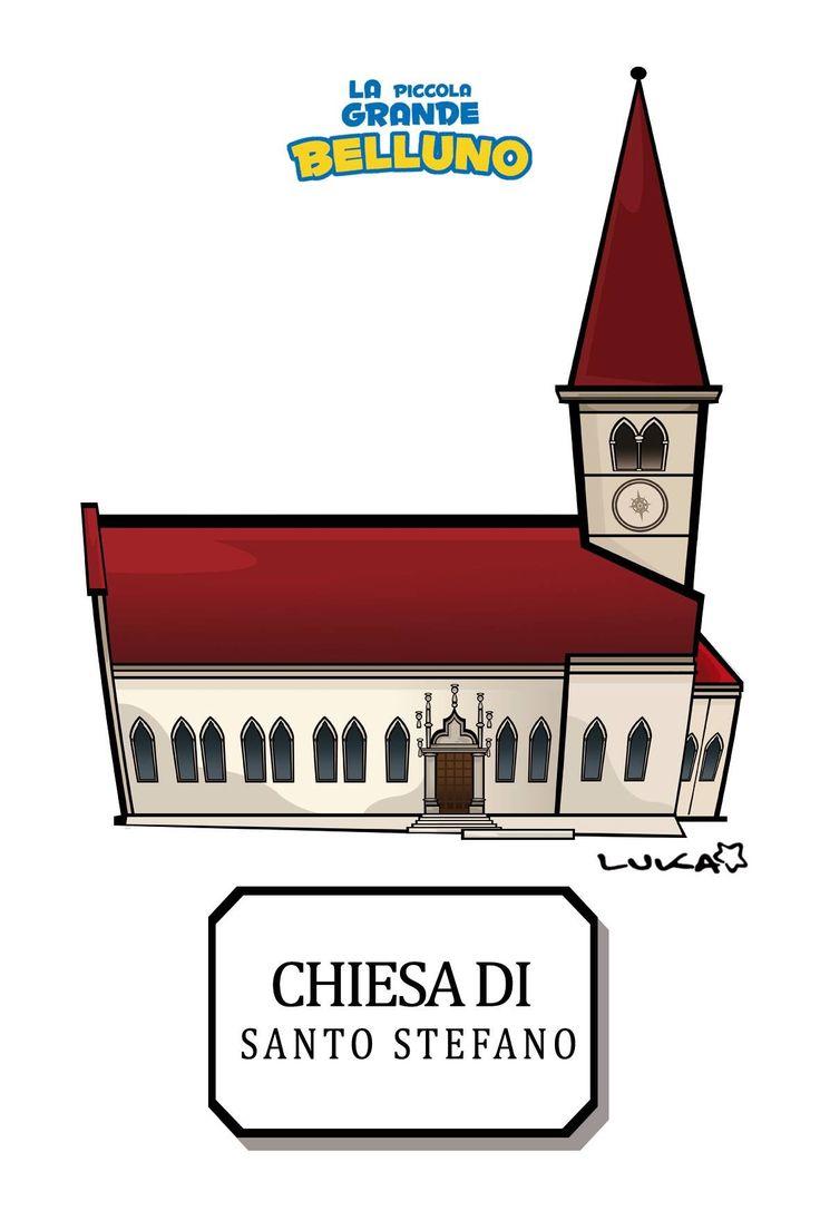Chiesa di Santo Stefano Belluno Dolomiti Veneto Italia by Luca Stella