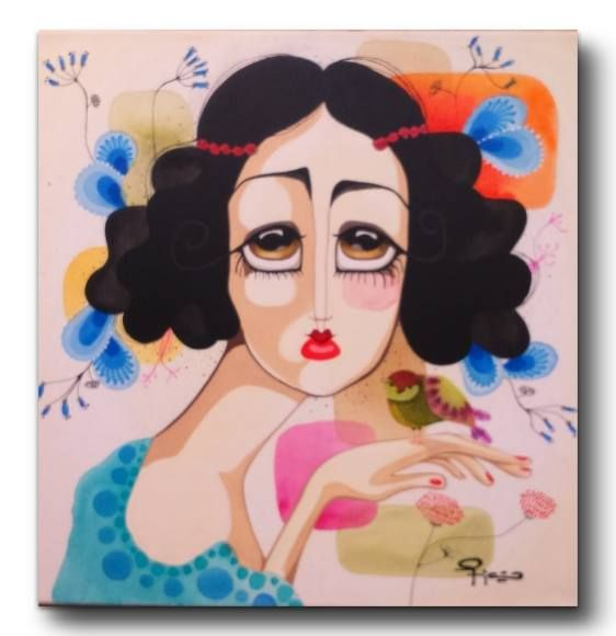 """""""Linda Melancolia"""" Mora Fiaño www.moracuadros.com.ar"""