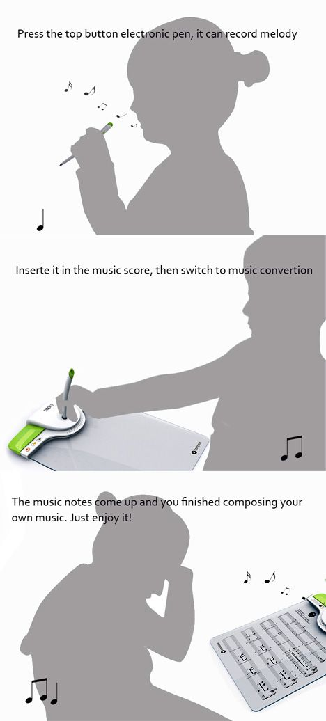 Notepad that will play music you write or transcribe music you've recorded with the pen.