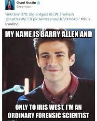 Only to Iris West!>Now, only to Wally West. XD