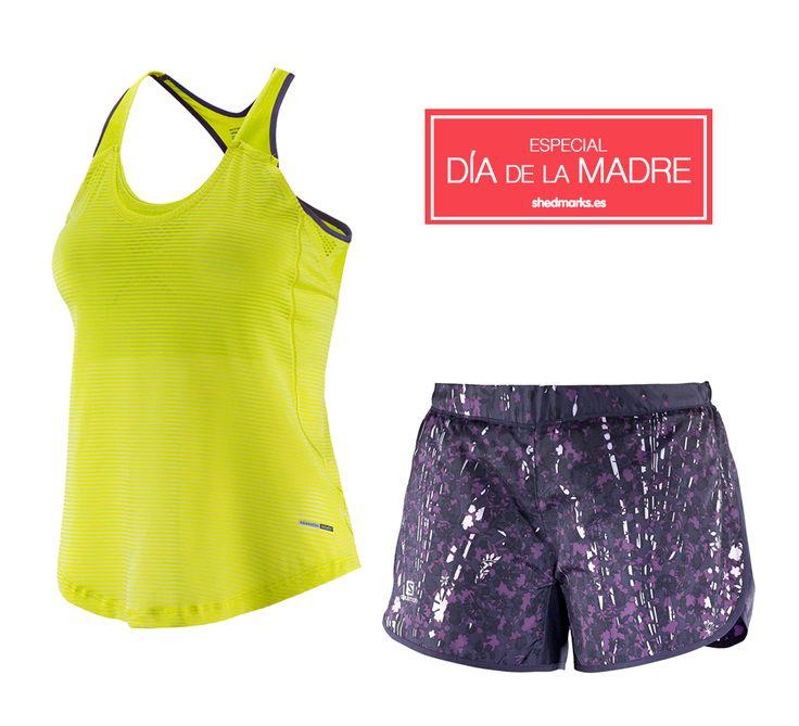 Pantalones y camiseta de trail running Salomon http://www.shedmarks.es/mallas-y-pantalones-running-mujer/4064-pantalones-salomon-agile-short-morado.html