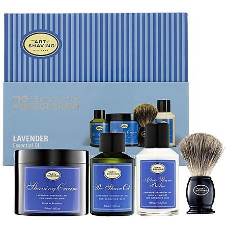 The Art of Shaving Full Size Kit-Lavender by The Art of Shaving. $89.49. Shaving EssentialsAccording to The Art of Shaving, there are 4 Elements of The Perfect Shave: Pre-Shave Oil, Shaving Cream, After-Shave Balm and the Badger Brush. This Full-Size Kit with Lavender Essential Oil offers all the essentials you need for a close and comfortable shave. With unique blends of botanical ingredients and 100% pure essential oils, these shave-perfecting formulas will provide optimal ...
